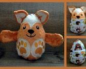 Fox peekaboo baby hideaway stuffed plush animal egg minky fabric plushie