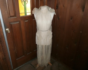 Edwardian Wedding Dress Very Fragile only collectible circa 1700