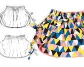 Girls skirt sewing pattern pdf download, sizes from 0M-6T detailed tutorial -Pattern 44