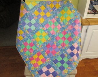 Paste Nine Patch Baby Quilt