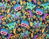 FOR PATTY ONLY - Mardi Gras Masks With Saxaphones and Fleur de lis - 4 Placemats