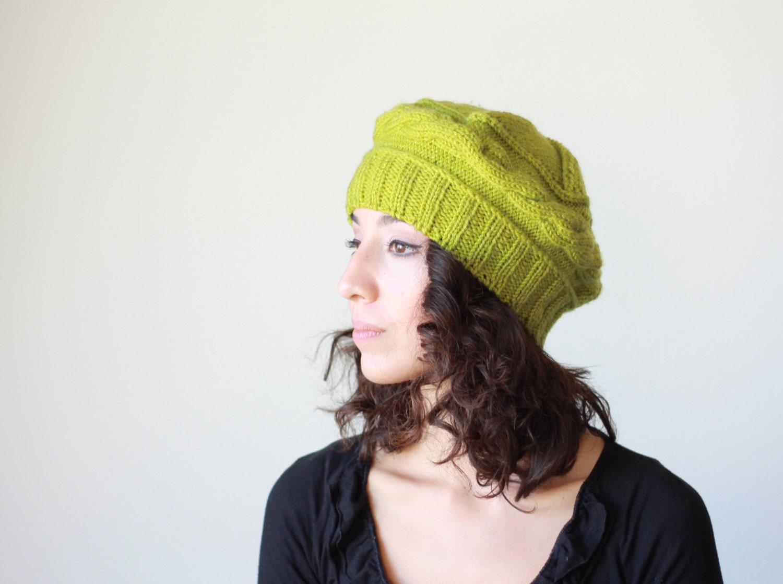 knit berets womens knit winter hats in pistachio green