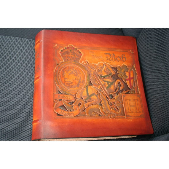 Personalized Leather Scrapbook Or Photo Album By
