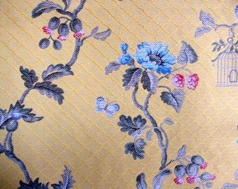 SALE...schumacher fabric, 1 yard clarisse lampas fabric, italian fabric...i have 3 yards available