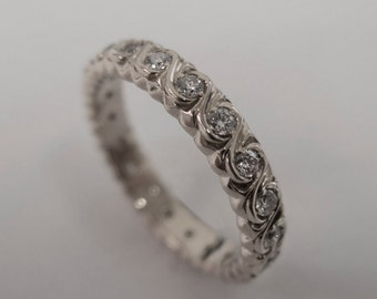 Eternity Ring, Platinum diamond Ring, Diamond Band, Eternity Ring, Platinum Eternity Band, Platinum Eternity Ring, Delicate Band, 2