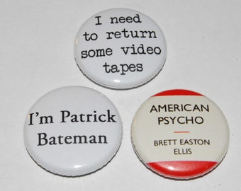 American Psycho Button Badge 25mm / 1 inch Brett Easton Ellis Patrick Bateman