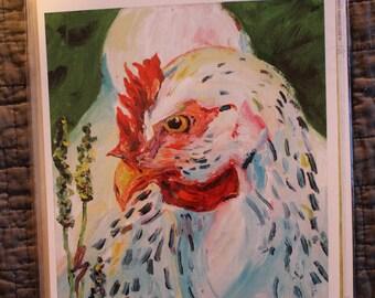 """Chicken Hen Print """"Speckled Hen"""" by Chris Lorenz"""