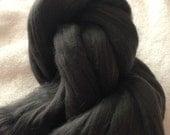 Dark Gray Bamboo Top 4oz Spinning Fiber Luxury Fiber