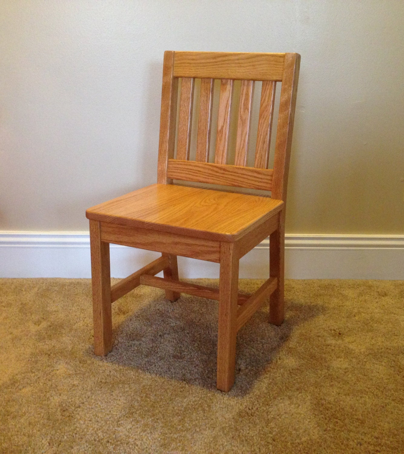 Children s Chair 14 inch Seat Height Honey Brown Oak