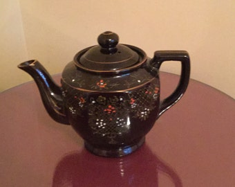 Hand Painted Chocolate Brown Teapot