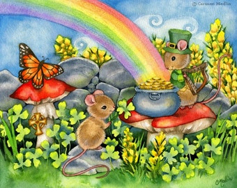 Luck of the Irishmouse - Mouse Art 8.5x11 Print