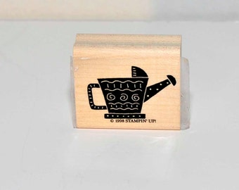 Watering Can-- Stampin Up Rubber Stamp = 1998 - Destash