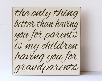 Grandparent Wood Sign, Gift for Grandparents, Wall Art for Grandparents, Rustic Wood Sign, Grandpa and Grandma Gift, Grandparents Like You