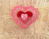VALENTINE BROOCH: Meticulously crafted, one-of-a-kind heart pin. Perfect size gift box.