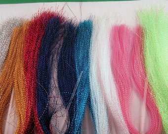 Gold Crystal Flash tinsel crafts projects fly tying