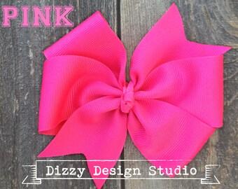 Big Pretty Pin Wheel Hair Bow in Pink