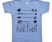 Little Brother Arrows Kids Shirt - Boys Native America / Archery Clothing - Little Brother Shirt - Brother Clothes - Baby Toddler and Youth