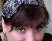 Upcycled necktie knot headband