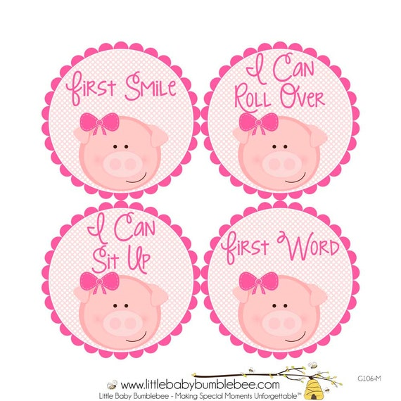 Items similar to baby 39 s first milestone stickers i can for Baby first tooth decoration