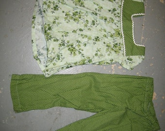 Leafy Green Top and Pants