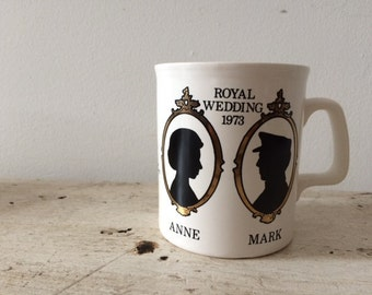 Royal Wedding Silouhette Mug 1973