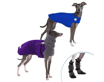 ITALIAN GREYHOUND Cold Climate Special, Winter Dog Coat, Dog Sweater, Dog Booties