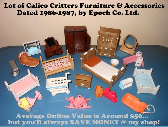 Value Lot Of 1980 39 S Calico Critters Dollhouse By Rockettaco