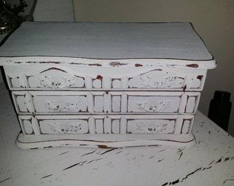Jewelry Box Jewelry Storage Recycled Shabby Chic Cottage Jewelry Box White Jewlery Box Jewelry Storage Farmhouse Jewelry Box Storage Gift