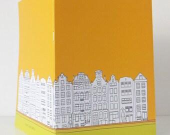 Amsterdam Journal, A5 Notebook, Blank Journal, Travel Journal