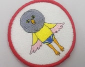Swim Club Mascot! Iron on or Sew on Machine embroidered patch