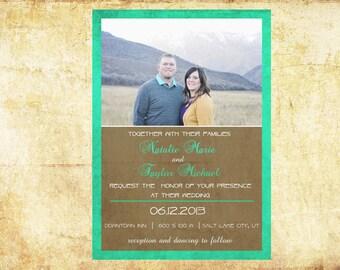 wedding invites, rustic wedding invitations, unique wedding invitations, printable wedding invitations, custom wedding invitations