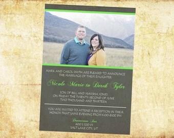 rustic wedding invitations, printable wedding invitations, unique wedding invitgations, custom wedding invitations, wedding announcement