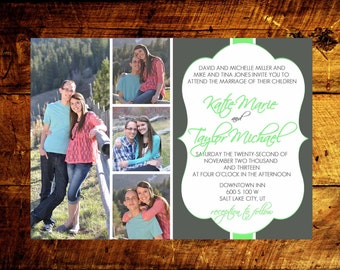 wedding announcement, photo wedding invitations, wedding invitations, wedding invites, unique wedding invitations