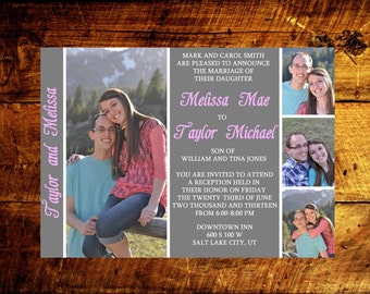 printable wedding invitations, custom wedding invitations, wedding announcement, photo wedding invitations, modern wedding invitations