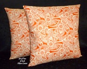 "New Set of Two Handmade18""x18"" Pillow Covers in a Beautiful Alexander Henry Designer Fabric"