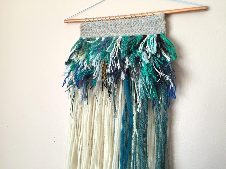 Weaving wall hanging woven wall hanging yarn wall hanging for Yarn wall hanging