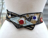 Vintage Seed Bead Snap Belt
