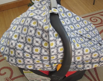 Car Seat Canopy / Cover Only- Fitted - Unisex Fabric- other items available in my shop