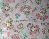 Candy My melody fabric light  pink colour half yard