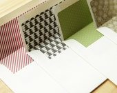 Set of 5 Pre-Lined Christmas Envelopes