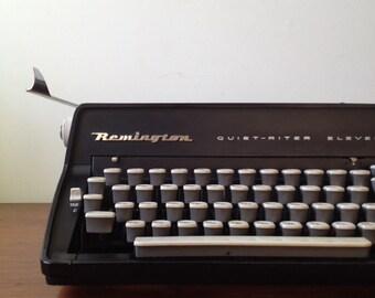 Vintage Black Remington Quiet-Riter Eleven Manual Typewriter