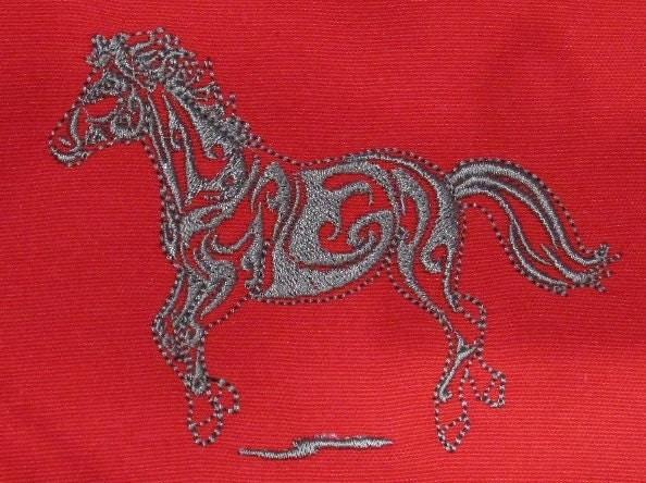 Horse outline design machine embroidery designs