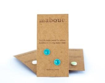True Turquoise porcelain stud earrings