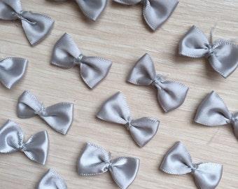10pcs Grey Bow Ribbon Bow For Headwear Decor Fashion Costume Doll dress Decor