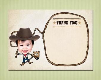 digital cowboy thank you card