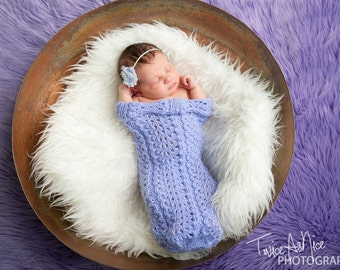 Shell Lace Newborn Cocoon - You Choose Color