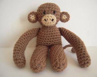 Crocheted Stuffed Amigurumi Monkey