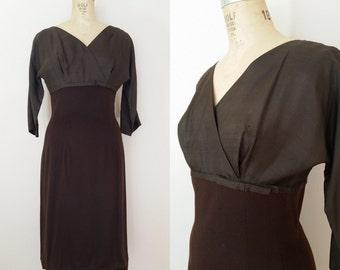 1960s Brown Dress // Hot Toddy Dress // Vintage 60s Wiggle Dress // Medium