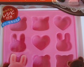 Very Cute Japanese Cooking Silicone Mold/Jello Mold/Chocolate Mold