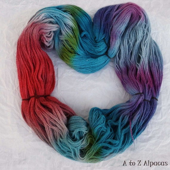 SUPER-SIZED SKEIN Hand Dyed Royal Baby Alpaca Yarn By